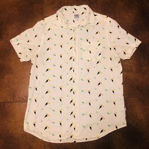 🦜 Toucan Yellow Buton Up Shirt